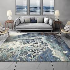 large area rugs blue sea water carpets