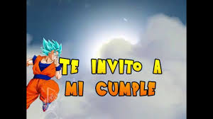 Invitacion Digital Animada Dragon Ball Z Youtube