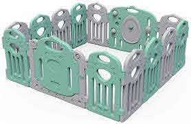 Amazon Com Baby Fence Toddler Crawl Mat Carpet Safety Play Area Gate Home Playground Infant Plastic Castle Home Kitchen