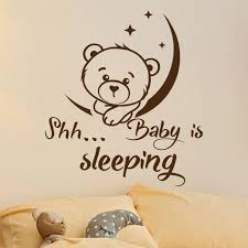 Vinyl Wall Stickers Mural Cute Bear Kids Room Decoration Nursery Bedroom Decor Ebay