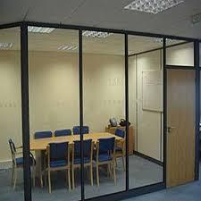 aluminium frame glass partition for