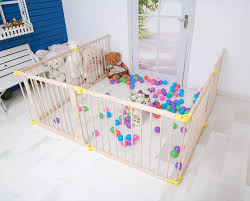 Foldable Baby Playpen With Gate 6 Panels Wooden Game Fence Kids Play Zone Buy Baby Playpen Wooden Baby Playpen Game Fence Product On Alibaba Com