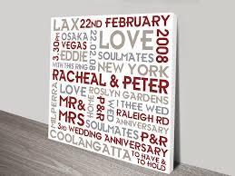 couples canvas romantic word art gift