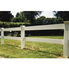 104 Feet Pvc Vinyl 2 Rail Post And Rail Fence Wayside Fence Company