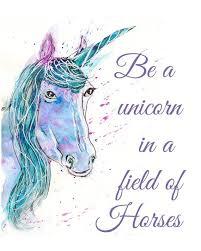 be a unicorn print purple unicorns unicorn wall art gift