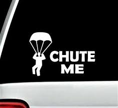 Skydiving Parachute Decal Sticker For Car Window 7 0 Inch Bg 349 Chute Me Ebay