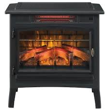 freestanding electric fireplace