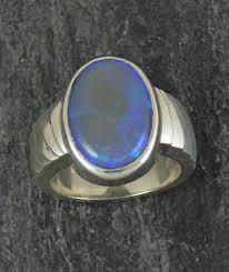 sterling silver australian opal ring