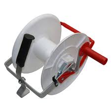 Wind Up Geared Electric Fence Reel For Poly Wire Tape Strip Grazing Ebay
