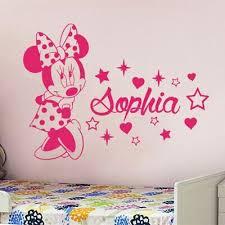 Wall Sticker Custom Baby Name Minnie Mouse Vinyl Decor Kids Nursery Room Decal Ebay