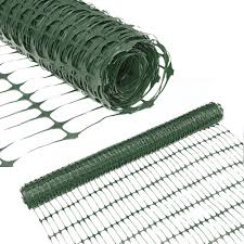 Abba Patio Snow Fence 4 X 100 Feet Plastic Safety Fence Roll Temporary Poultry Fencing Mesh Economy Construction Fencing For Deer Lawn Rabbits Chicken Poultry Dogs Green