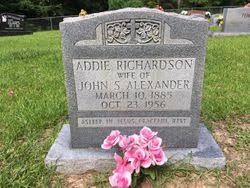 Addie Richardson Alexander (1885-1965) - Find A Grave Memorial
