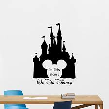 In This House We Do Disney Wall Decal Disney Quote Mickey Mouse Ears Castle Sign Gift Vinyl Sticker Print Wall Art Design Baby Room Kids Decor Nursery Poster Custom Mural 119bar