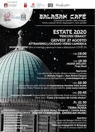 Balagan Cafe 27 agosto 2020 - Comunità ebraica di Firenze