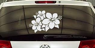 Hibiscus Flower Window Bumper Sticker Vehicle Graphics Vinyl Decal Stickers