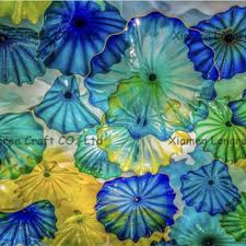blown glass plates for wall decoration