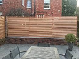 Contemporary Cedar Fence Backyard Patio Cedar Fence Patio