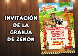 Plantilla Invitacion De La Granja De Zenon Zenon Farm Invitation