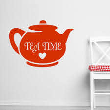 High Quality Teapot Wall Decal Quotes Tea Time Vinyl Wall Stickers Heart Pattern Home Decor Girls Rooms Art Mural Removable Large Wall Decals Cheap Large Wall Decals For Kids From Onlinegame 12 66