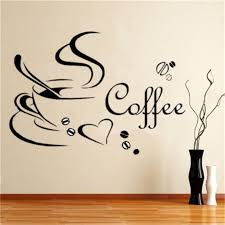 Special Price New Wall Decals Kitchen Coffee Wall Stickers Wall Sticker Removable For Dining Room Cafe