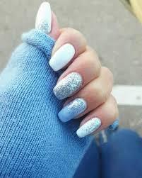 blue glitter coffin nails