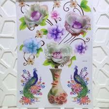 china 3d flower wall decor pvc sticker
