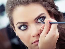 little black dress bold makeup