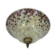 bell shade flush mount light tiffany