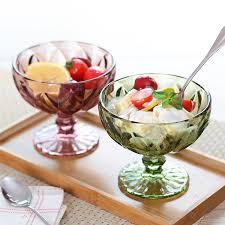 glass ice cream bowls dessert bowl