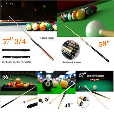 57 2piece wood jointed pool cue