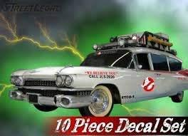 10 Piece Ghostbusters Ecto 1 Vehicle Decals Halloween Prop Vinyl Car Decal Set Ebay