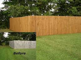 Before And After Staining Deck Deck Paint Fence