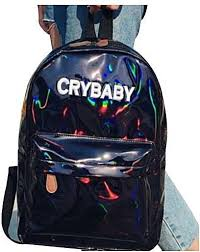 women laser cry baby backpack