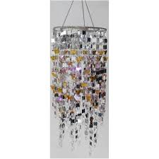 hanging battery operated chandelier