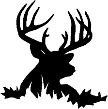 Deer Head Decal 55 Custom Wall Graphics