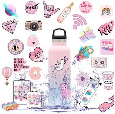 Amazon Com Stickers For Water Bottles Stickers For Hydroflask Pink Cute Vsco Stickers 53pcs Waterproof Vinyl Laptop Decal Stickers Pack For Teens Computer Hydro Flask Travel Case Pink Lady Arts Crafts Sewing