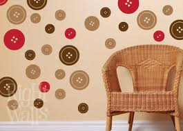 Sewing Buttons 20 Pieces Vinyl Wall Decals Sewing Room Button Etsy