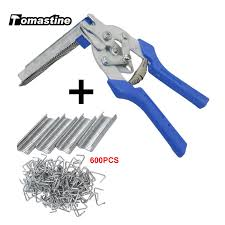 Farm Chicken Mesh Cage Wire Fencing Crimping Solder Joint Welding Repair Hand Tools 1pc Hog Ring Plier Tool With 600pcs M Clips Pliers Aliexpress