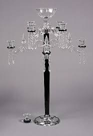 black crystal candelabra 8 light with