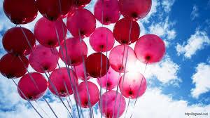 pink balloons hd wallpaper background