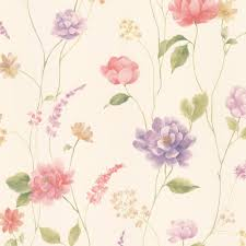 hanne pink fl pattern wallpaper