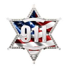 Police Sheriff Star 6 Point Wavy Us Flag With 911 Reflective Decals Fire Safety Decals