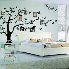 Large Family Tree Wall Decal Peel Stick Vinyl Sheet Easy To Install Apply History Decor Mural For Home Bedroom Stencil Decoration Diy Photo Gallery Frame Decor Sticker By Lacedecal