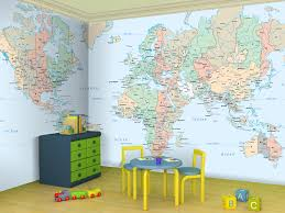 World Map Wallpapers Large World Maps Murals World Map Decor World Map Wallpaper Map Wallpaper