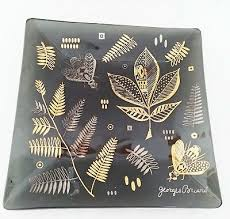 georges briard glass tray mcm gold