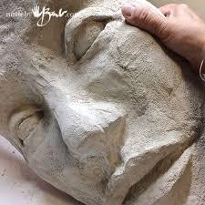 diy concrete face garden sculpture mold