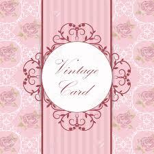 Ilustracion Vectorial De Un Marco Vintage Sobre Fondo Floral Y