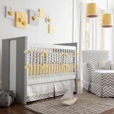 and yellow zig zag baby crib bedding