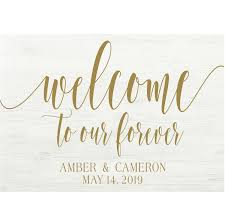 Welcome To Our Forever Sign Decal Diy Wood Signs Personalized Wedding Sign Decal
