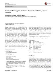 pdf tary protein supplementation in